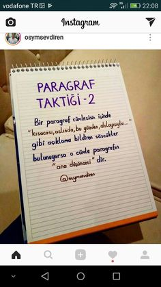 Paragraf taktiği✔ - Bestworld Tutorial and Ideas Turkish Lessons, Interesting Information, Study Hard, School Notes, Study Notes, Study Motivation, My Teacher, Diy For Teens, Study Tips