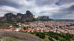 Kalabaka town at the foot of the monasteries of Meteora, Greece