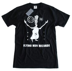 FLYING NUN - 'Fuzzy' Tee Black Fly, Concert Tees, Band Shirts, Favorite Color, Print Design, Shirt Designs, Mens Tops, T Shirt, How To Wear