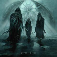 Inquizitor Hp Lovecraft, Lovecraft Cthulhu, Cthulhu Art, Call Of Cthulhu, Arte Horror, Horror Art, Dark Fantasy Art, Fantasy Artwork, Necronomicon Lovecraft