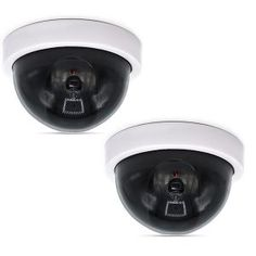 Fake Security Camera Dummy Indoor Outdoor CCTV Red LED Light Flashing White for sale online Wireless Security Cameras, Wireless Home Security Systems, Wireless Video Camera, Best Alarm, Dome Camera, White Led Lights, Top, Consumer Reports, Cooking Network