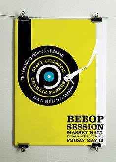 Jazz Posters by Oksana Shmygol, via Behance