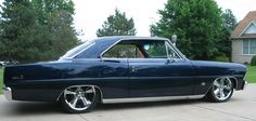"This '67 Nova is cruising on 17"" & 18"" Rocket Booster Chrome wheels. The muscle car styling really pumps this ride up!"