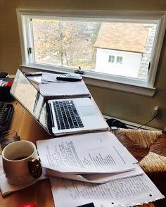 fearlesswolfstudies: My desk has been taken over... - Perfectionist Procrastinating