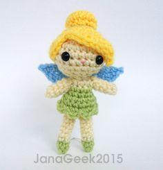 Tinker Bell Fairy Doll Crochet Amigurumi Pattern