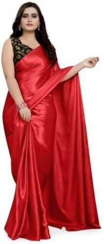 Indian Blouse, Indian Ethnic Wear, Indian Girls, Drape Sarees, Silk Sarees, Satin Saree, Lace Saree, Red Saree, Saree Poses