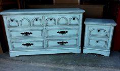 Facelift Furniture: Robin's Egg Blue Dresser & Nightstand