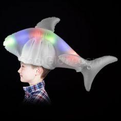 LED light up shark hat! Inflatable Shark 75d48dd552d
