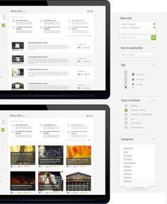 FranceTV Education - #filter #filtre #search #inspiration #webdesign