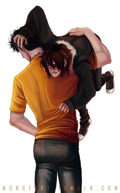 Brotherly love...Is it just me or does Nico remind you of Bucky?----- confused as to why they used Jensen Ackles butt for reference...