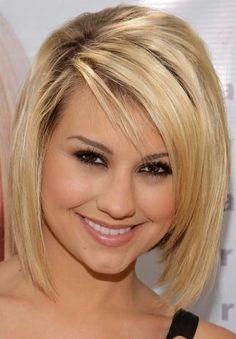 Chelsea Staubs Straight Medium Blond Hairstyle. This haircut is perfect for the girls with medium length hair.