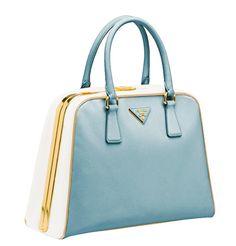 Butterboom Picks: Prada Pyramide Bag in blue.