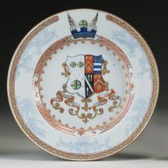 Chinese Export Armorial Plate, Circa 1720.