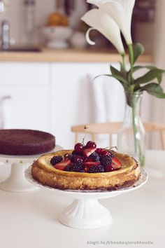 _the_ cheese cake via kauhaa & rakkautta Piece Of Cakes, Yams, Sweet Stuff, Baked Goods, Sweet Tooth, Cheesecake, Food And Drink, Yummy Food, Favorite Recipes