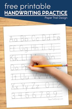 ABC handwriting practice worksheets to print for free to practice writing the alphabet. Letter writing practice for preschool or kindergarten. #papertraildesign #preschool #kindergarten #printable