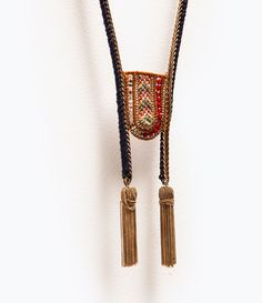 LONG EMBROIDERED NECKLACE from Zara