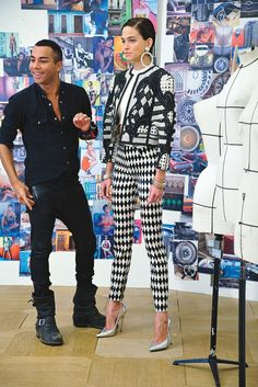 Behind the scenes with Olivier Rousteing at Balmain.