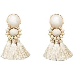 Violeta BY MANGO Tassels pendant earrings (60.410 COP) ❤ liked on Polyvore featuring jewelry, earrings, cuff jewelry, tassel pendant, pendant earrings, earring pendants and clasp earrings