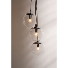Cluster Globe Pendant Light (€125) ❤ liked on Polyvore featuring home, lighting, ceiling lights, cluster light, incandescent lights, urban outfitters lamp, wall-mounted lamps and incandescent lamp