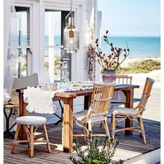 Hardscape Design, Outdoor Furniture Sets, Outdoor Decor, Rattan Furniture, Pretty Room, Building Exterior, Pool Houses, Handmade Furniture, Danish Design