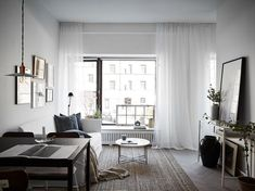 my scandinavian home: Charcoal and indigo in the home of a Swedish interior… Condo Design, Apartment Design, Interior Design, Condo Living, Living Room Decor, Living Spaces, Small Apartments, Small Spaces, Bedroom Walls