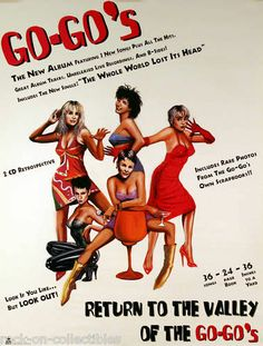 GO - GO'S 1994 RETURN TO THE VALLEY ORIGINAL PROMO POSTER
