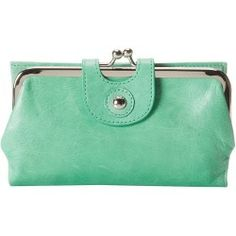 Buy Hobo - Alice (Mint Vintage Leather) - Bags and Luggage new - Zappos is proud to offer the Hobo - Alice (Mint Vintage Leather) - Bags and Luggage: Top frame wallet made of embossed leather.