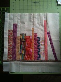 How to piece a bookshelf quilt