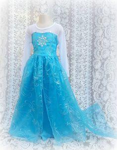 Frozen Elsa Costume dress Halloween or by mixnmatchsensations