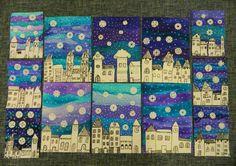 Bildergebnis für zimní městečko ve výtvarce Winter Art Projects, Winter Crafts For Kids, School Art Projects, Art For Kids, Club D'art, Classe D'art, January Art, 3rd Grade Art, Kindergarten Art