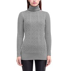 LIYT Womens Fashion Slim High Collar Sweater >>> Read more reviews of the product by visiting the link on the image.  This link participates in Amazon Service LLC Associates Program, a program designed to let participant earn advertising fees by advertising and linking to Amazon.com.
