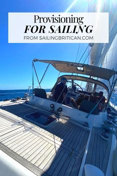 Getting to grips with cooking and stocking the boat with food is no small feat. Find out some top tips to make boat provisioning quick and easy. Visit SailingBritican.com now. #sailing #sailboat #cruiserlife Sailing Basics, Boat Organization, Boating Tips, Buy A Boat, Dinghy, Frozen Meals, Batch Cooking, Kinds Of Salad, Types Of Food