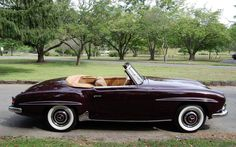 1957 Mercedes-Benz #190SLRoadster. Exterior: Burgandy, Interior: Tan. Seen on…