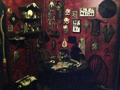 the gothic rooms look full not one empty place really - Goth Bedroom Decorating Ideas