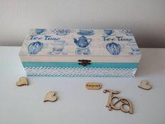 This item is unavailable Wooden Tea Box, Vintage Style, Vintage Fashion, Decorative Boxes, My Etsy Shop, Unique Jewelry, Handmade Gifts, Check, Shopping
