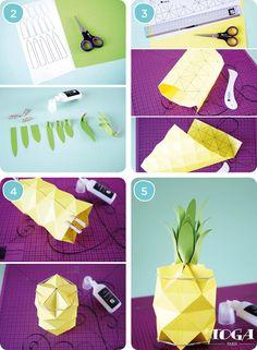 DIY - Comment faire Summer Party: Mon Ananas 3D ? Conseil