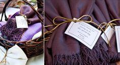 wedding favors: pashmina scarves