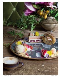Styled by Bielle Bellingham at Coco Safar. Shot by Adel Ferreira for Elle Decoration SA. Elle Decor, Cherry, Table Decorations, Breakfast, Basil, Opera, Food, Black, Morning Coffee