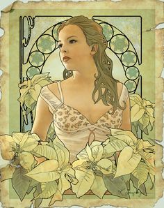 Noel in art nouveau by CassiopeiaArt on deviantart.com Like the idea of a photo made to look like art nouveau.