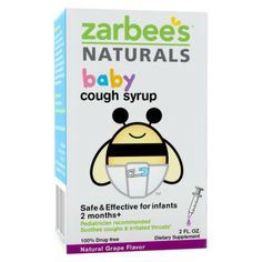 Zarbees Baby Cough Syrup - Grape. Recommended by my Pediatrician.