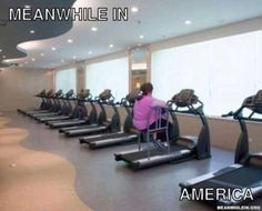 Meanwhile in the USA - Gym Memes, a massive collection of gym memes and more funny work out videos Meme Pictures, Funny Photos, Meme Pics, Crazy Pictures, Funniest Pictures, Funny Cute, The Funny, Funny Gym, Funny Fitness
