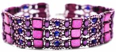 Deb Roberti's new Brocade bracelet done in purple hues.