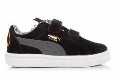 Wow wat stoer! Deze lage zwarte sneakertjes van Puma lijken op het eerste ook gewone gave zwarte sneakers te zijn, maar niets is minder waar! Het zijn heuse Batman sneakertjes, met het logo achterop en de tong heeft de vorm van het Batman masker.
