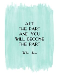 William James quote art #print #blue #watercolor