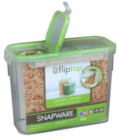 """Snapware 1098432 11 Cup Slim Flip Topâ""""¢ Rectangle Storage Container -- Find out more details by clicking the image : Kitchen Storage Organization Sets"""