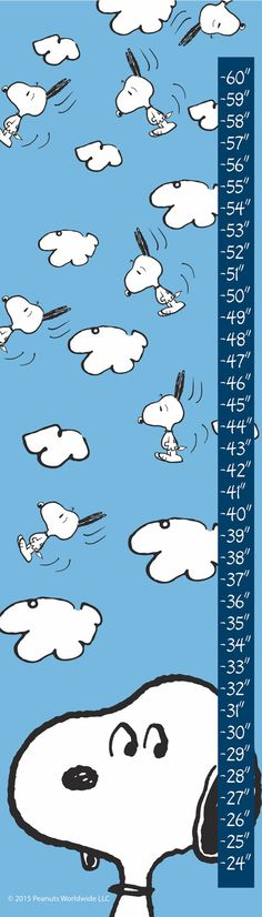 Description: - Peanuts growth chart featuring Snoopy - Durable art print on high-quality canvas - Grommets placed in the corners to make hanging easy - Includes a certificate of authenticity - Made in