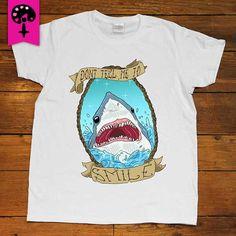 Don't Tell Me To Smile Shark -- Women's T-Shirt/Tanktop