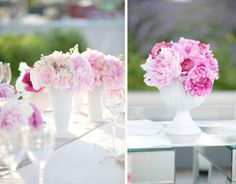 DIY tutorial for milk glass style vases made with glass jars and cans.