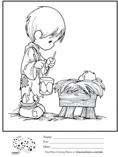 kids coloring page precious moments little drummer boy baby Jesus coloring sheet Nativity Coloring Pages, Jesus Coloring Pages, Coloring Pages For Boys, Christmas Coloring Pages, Colouring Pages, Coloring Sheets, Coloring Books, Boy Coloring, Christmas Colors