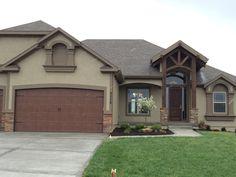 Cedar entryway & darker garage colors ... Great combo!
